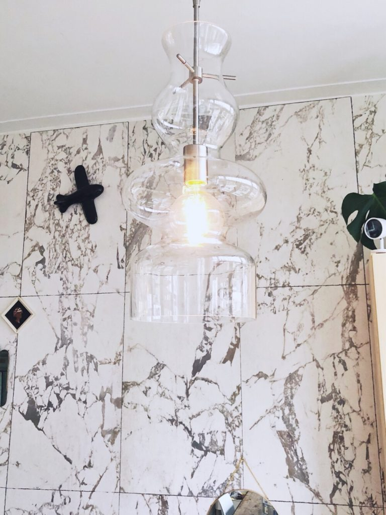 plafondlamp van glas