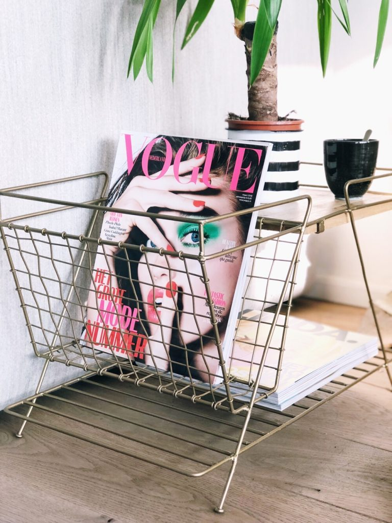 bijzettafeltje voor tijdschriften
