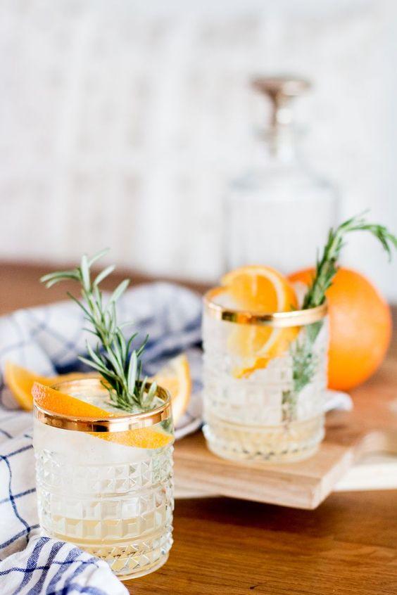 gin tonic recept met rozemarijn en sinaasappel
