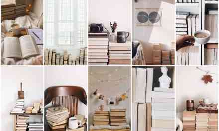 Pinterest trend: boekenstapels in je interieur (achterstevoren)