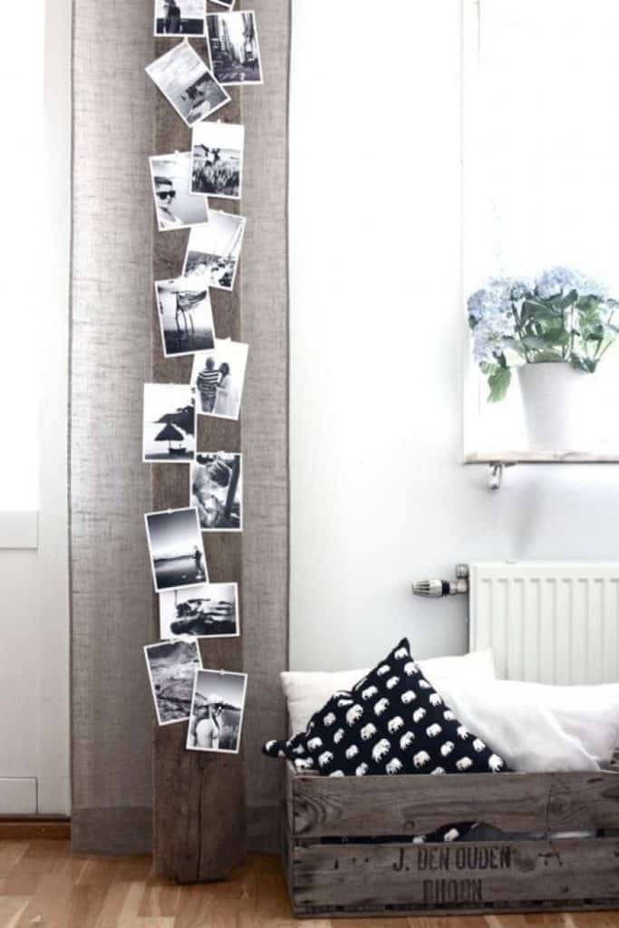 fotocollage op plank