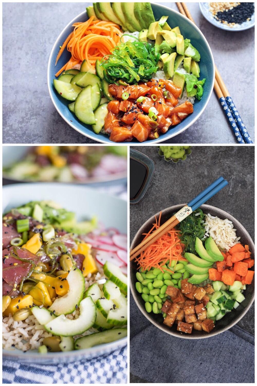 poké bowl hype - 3 recepten
