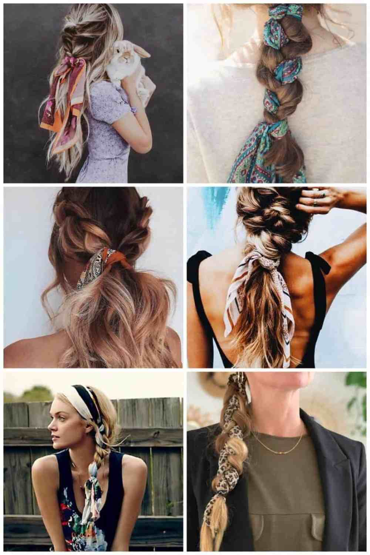 sjaaltjes in je haar - vlecht
