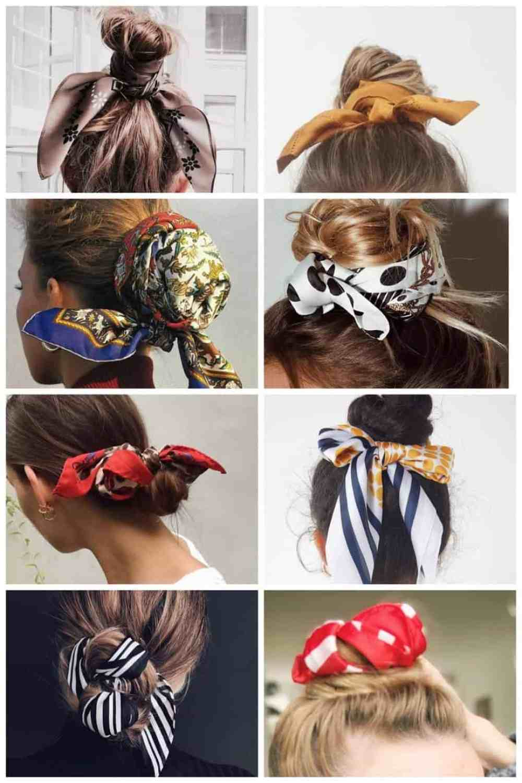 sjaaltjes in je haar - knot