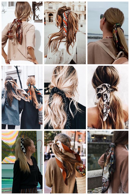 sjaaltjes in je haar - staart