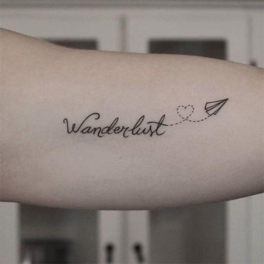 paper plane tattoo