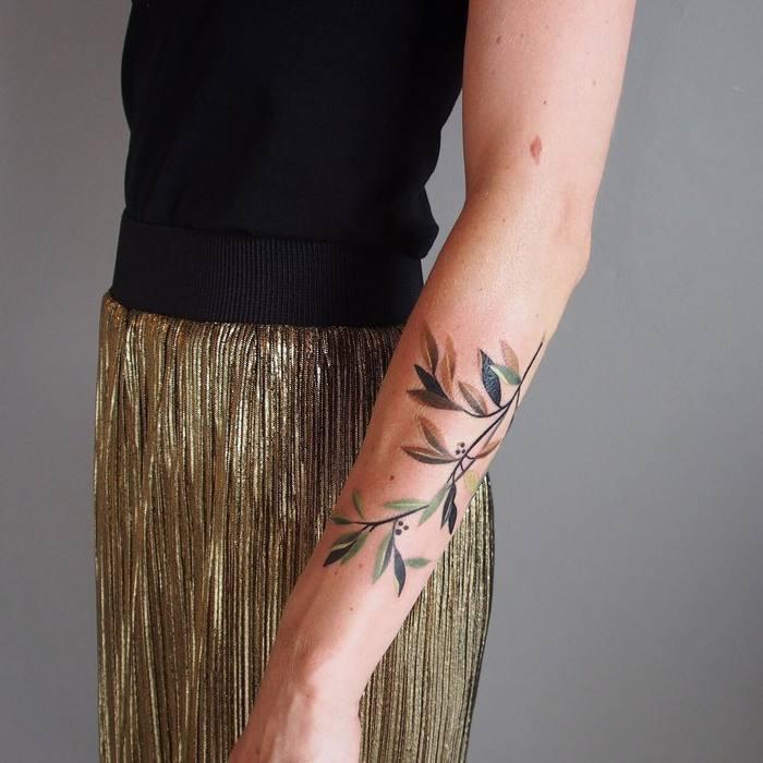 olive branch tattoo inspiration