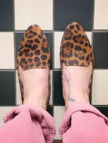 Vanharen panterprint loafers