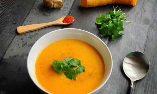 Mild pittige wortelsoep (goed tegen griep en verkoudheid)