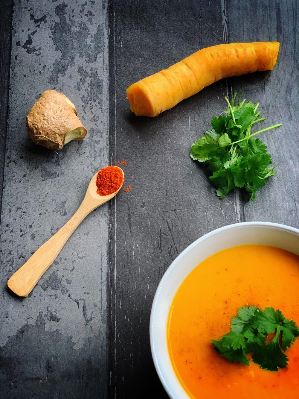 pittige wortelsoep recept