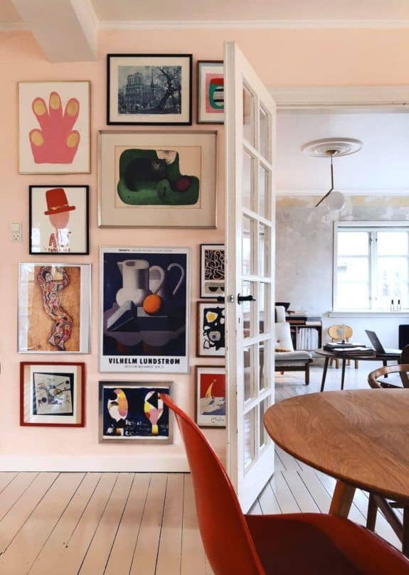 art wall dining room