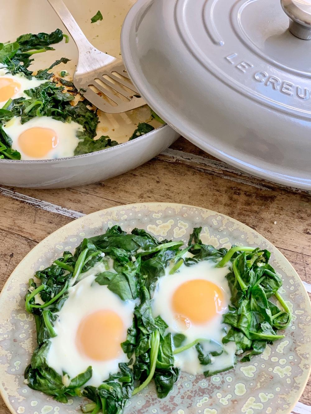 Recept | supergezonde uitsmijter met spinazie