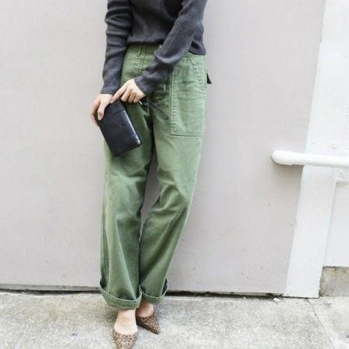 wide trousers and heels