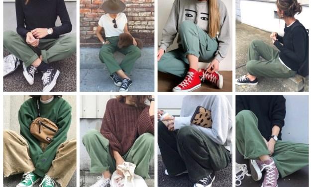 Outfitpost 53 | groene broeken met All Stars