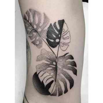 33x Monstera tattoo inspiration