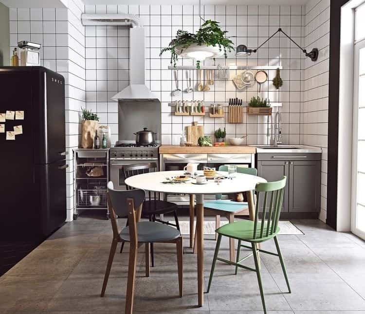 kitchen inspiration white tiles