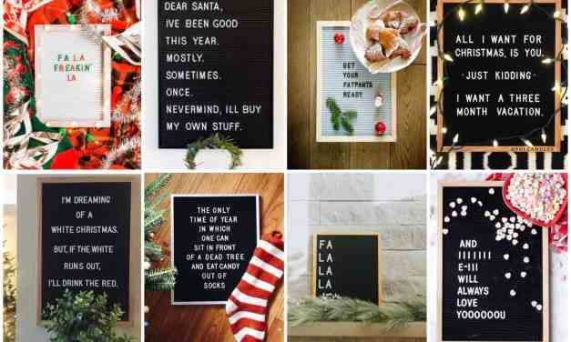 18x vrolijke kerstspreuken voor op je letterbord