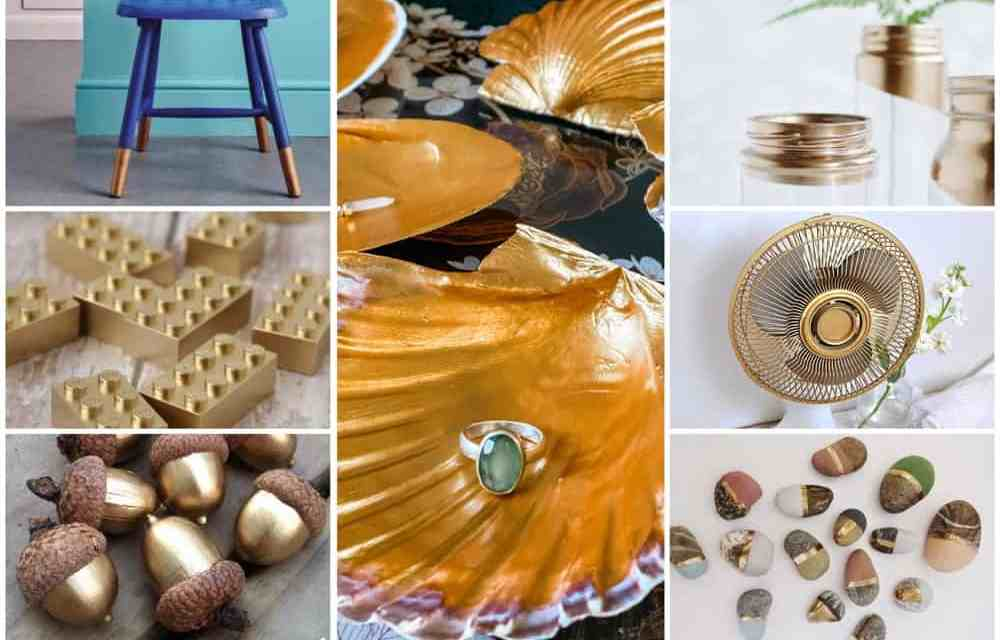 DIY: upgrade woonaccessoires met goudverf