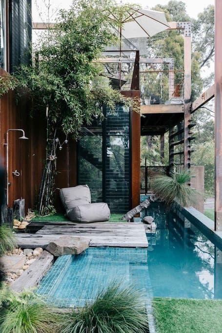 zwembad voor stadstuin