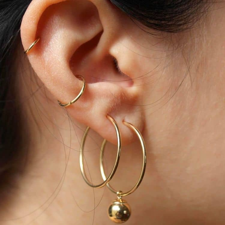 gouden oorringen trend