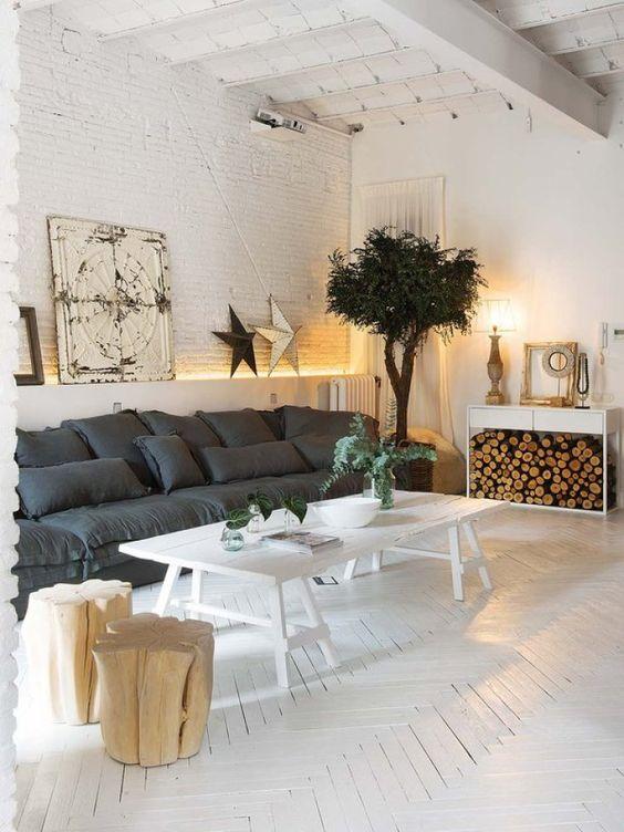 herringbone floor white