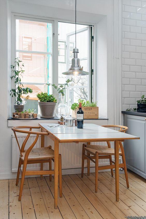 kleine eethoek kleine keuken