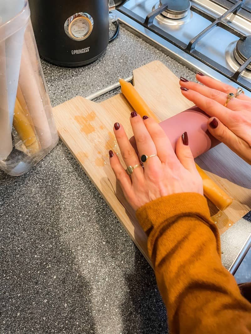 zelf gedraaide kaarsen maken