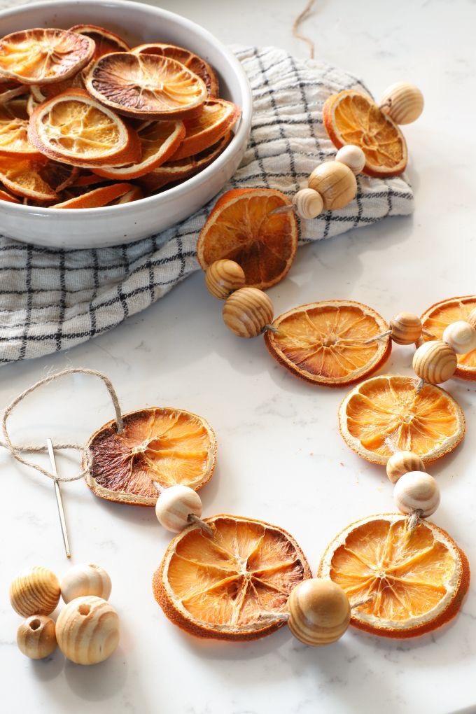gedroogde sinaasappel