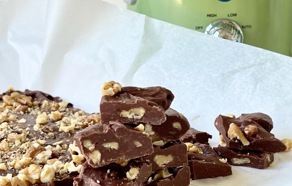 Slowcooker fudge (basisrecept met chocolade)