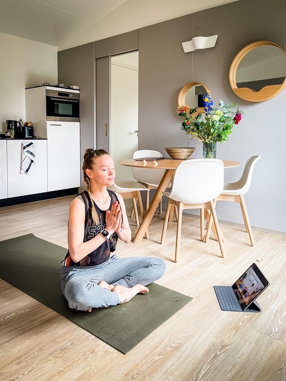 luxe vakantiehuisje yoga