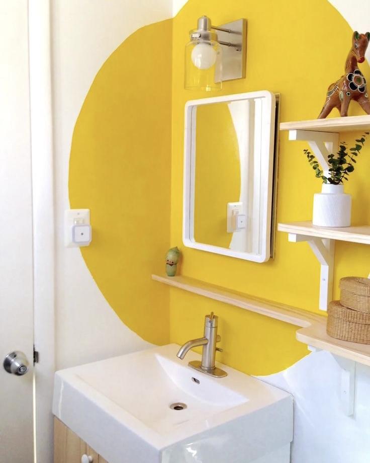 gekleurde muren in huis