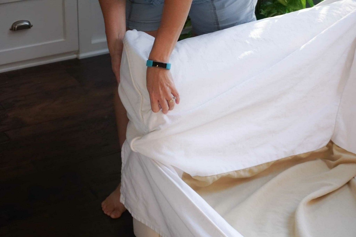 how to clean sofa arms bags for moving cleaning my pottery barn slipcovered one happy
