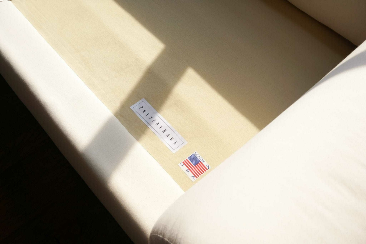 most durable sofa brands cream cover cleaning my pottery barn slipcovered one happy