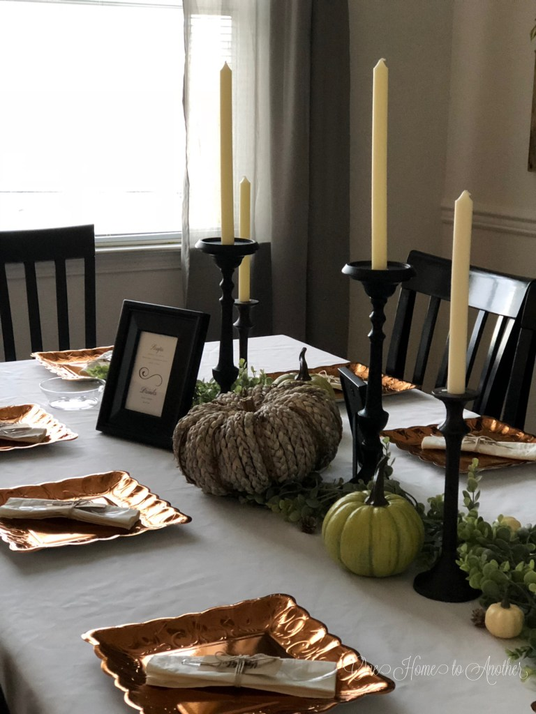Checkout My Simple Thanksgiving Table Decor | OneHomeToAnother