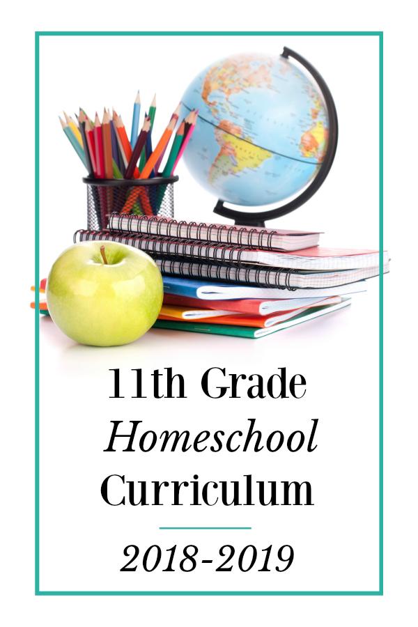 Homeschool Curriculum Choices- 11th Grade
