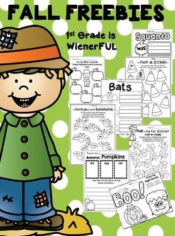 Fall Printable Freebies for Elementary Teachers: Fall Printable Pack