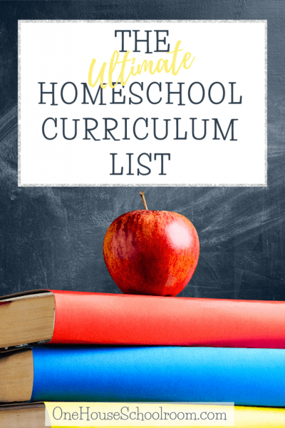 The Ultimate Homeschool Curriculum List