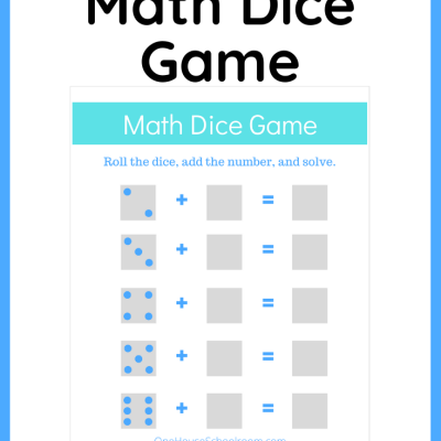 {Freebie} Math Dice Game