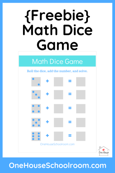 Math Dice Game Freebie