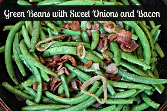 Green Beans with Sweet Onions and Bacon recipe