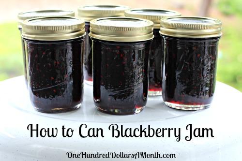 blackberry jam recipe canning