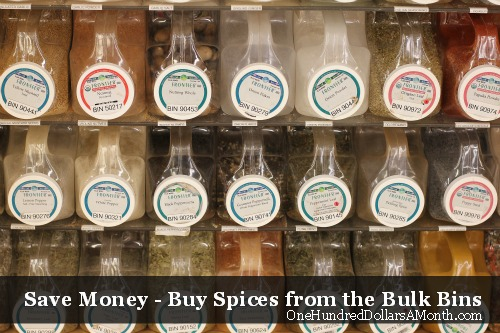 How to Save Money at the Grocery Store  Buy Spices from Bulk Bins