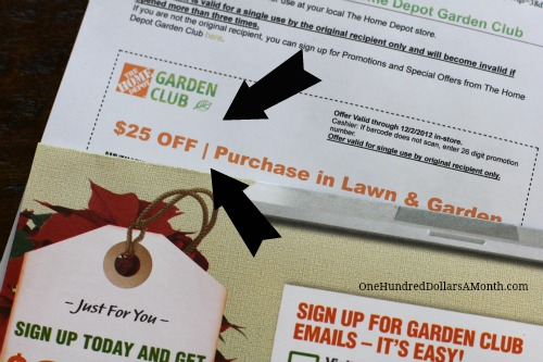 what's in the mail mavis - $25 home depot coupon - one hundred