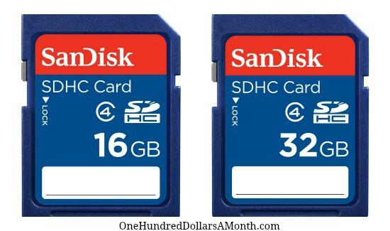 Memory cards for camera