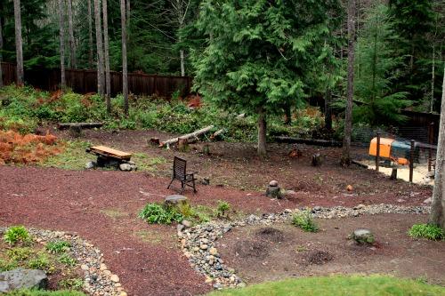 landscaping ideas wooded backyard