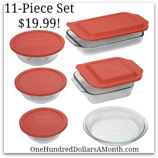 Pyrex Easy Grab 11-Piece Bake-and-Store Set