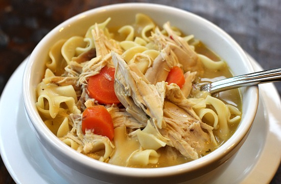 Easy slow cooker recipes creamy chicken noodle soup for Homemade chicken noodle soup crock pot