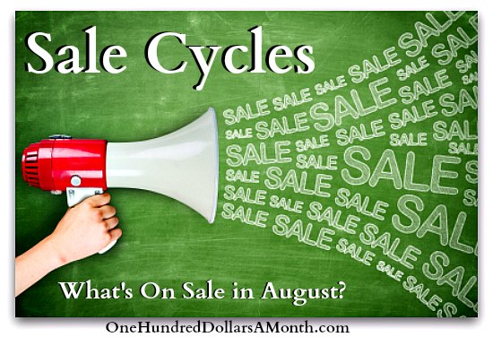 What is on sale in august sale cycles