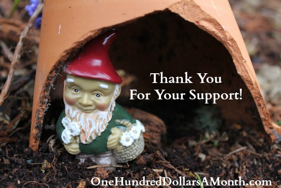 mavis gnomes one hundred dollars a month