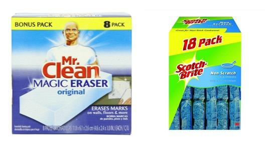 mr. Clean Magic Eraser Scotch Brite Sponge